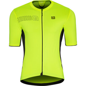 Alé Cycling Solid Color Block Jersey korte mouwen Heren, flou yellow
